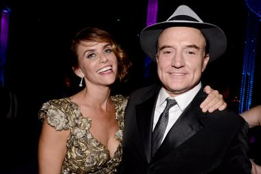 Amy Landecker and Bradley Whitford at the 67th Emmys Governors Ball.