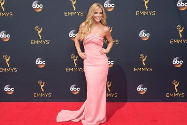 Debbie Matenopoulos on the red carpet at the 2016 Primetime Emmys.