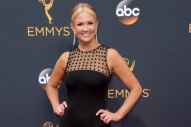 Nancy O'Dell on the red carpet at the 2016 Primetime Emmys.