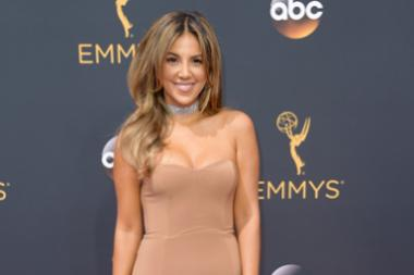 Liz Hernandez on the red carpet at the 2016 Primetime Emmys.