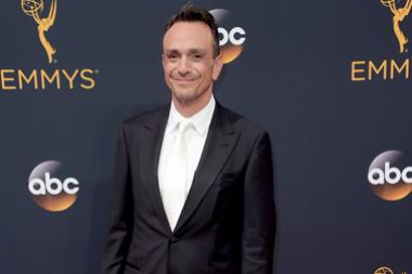 Hank Azaria on the red carpet at the 2016 Primetime Emmys.