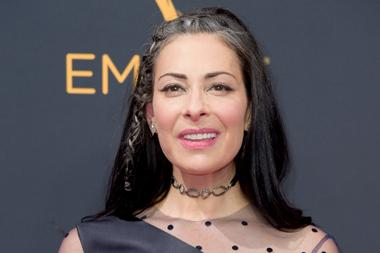 Stacy London on the red carpet at the 2016 Primetime Emmys.
