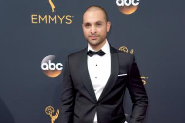 Michael Mando on the red carpet at the 2016 Primetime Emmys.