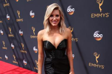 Charissa Thompson on the red carpet at the 2016 Primetime Emmys.