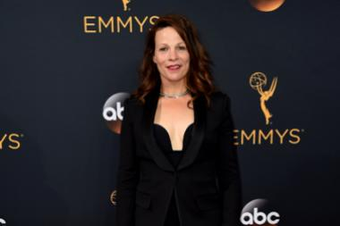 Lili Taylor on the red carpet at the 2016 Primetime Emmys.