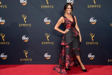 Amy Landecker on the red carpet at the 2016 Primetime Emmys.