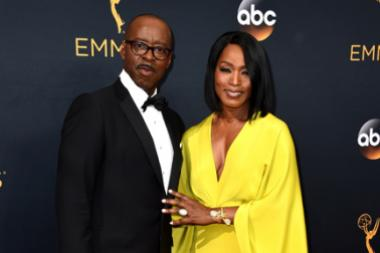 Courtney B. Vance and Angela Bassett on the red carpet at the 2016 Primetime Emmys.