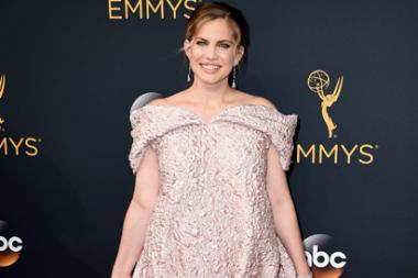 Anna Chlumsky on the red carpet at the 2016 Primetime Emmys.