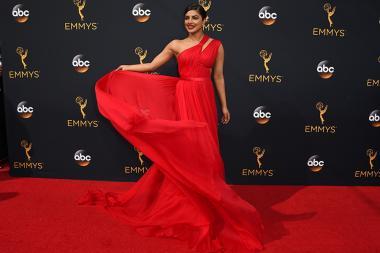 Priyanka Chopra on the red carpet at the 2016 Primetime Emmys.
