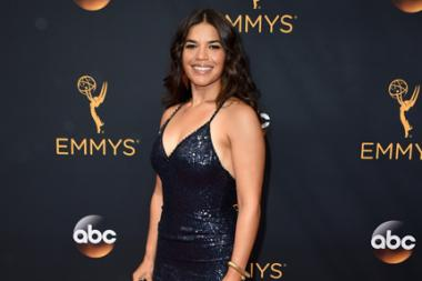 America Ferrera on the red carpet at the 2016 Primetime Emmys.