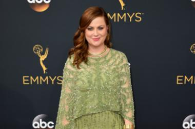 Amy Poehler on the red carpet at the 2016 Primetime Emmys.