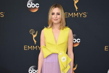 Laura Carmichael on the red carpet at the 2016 Primetime Emmys.
