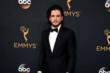 Kit Harington on the red carpet at the 2016 Primetime Emmys.