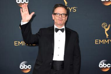 Peter Scolari on the red carpet at the 2016 Primetime Emmys.