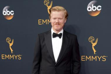 Jesse Plemons on the red carpet at the 2016 Primetime Emmys.