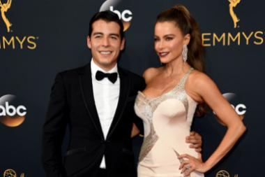 Manolo Gonzalez-Ripoll Vergara and Sofia Vergara on the red carpet at the 2016 Primetime Emmys.
