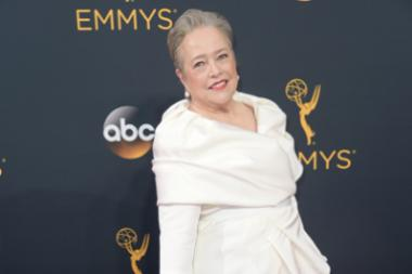 Kathy Bates on the red carpet at the 2016 Primetime Emmys.