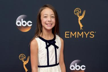 Aubrey Anderson-Emmons on the red carpet at the 2016 Primetime Emmys.