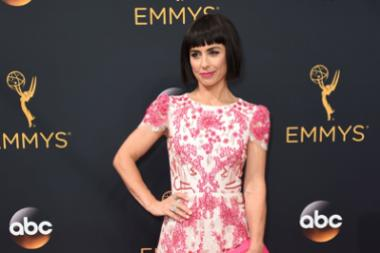 Constance Zimmer on the red carpet at the 2016 Primetime Emmys.