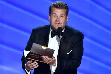 James Corden presents an award at the 2016 Primetime Emmys.