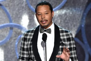Terrence Howard presents an award at the 2016 Primetime Emmys.