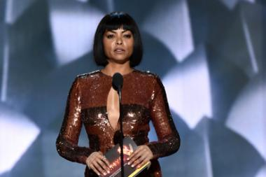 Taraji P. Henson presents an award at the 2016 Primetime Emmys.