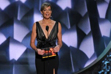 Allison Janney presents an award at the 2016 Primetime Emmys.