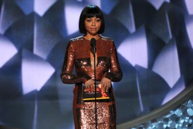 Taraji P. Henson on stage at the 2016 Primetime Emmys.