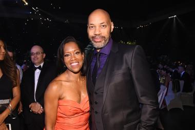 Regina King and John Ridley at the 68th Emmys Governors Ball.