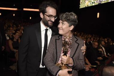 Jay Duplass and Jill Soloway at the 68th Emmys Governors Ball.