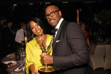 Angela Bassett and Courtney B. Vance at the 68th Emmys Governors Ball.