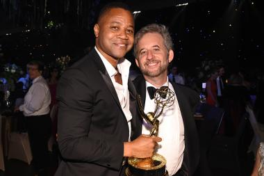 Cuba Gooding Jr. and Scott Alexander at the 68th Emmys Governors Ball.