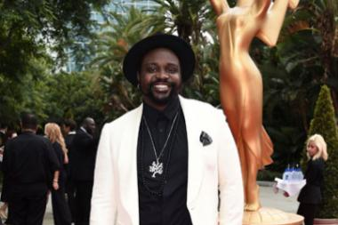 Brian Tyree Henry arrives on the red carpet at the 69th Primetime Emmy Awards.