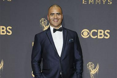 Christopher Jackson on the red carpet at the 2017 Primetime Emmys.