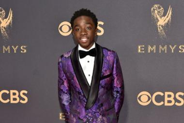 Caleb McLaughlin on the red carpet at the 2017 Primetime Emmys.