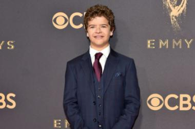 Gaten Matarazzo on the red carpet at the 2017 Primetime Emmys.