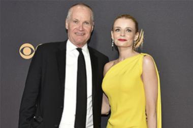 Jack Abernethy and Rosie Abernethy on the red carpet at the 2017 Primetime Emmys.