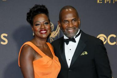 Viola Davis and Julius Tennon arrive at the 69th Primetime Emmy Awards