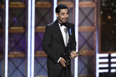 Riz Ahmed accepts his award at the 69th Primetime Emmy Awards