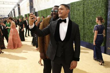 Brian Tyree Henry and Trevor Noah