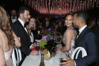 Jimmy Kimmel, Molly McNearney, Chrissy Teigen and John Legend