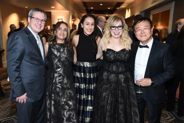 Gary Sullivan and guests, Kirsten Vangsness, and Chaesub Lee at the 69th Engineering Emmy Awards at the Loews Hollywood Hotel on Wednesday, October 25, 2017 in Hollywood, California.