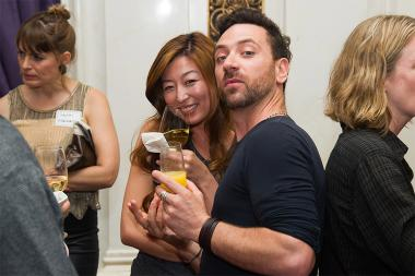 Giovanni Lipari and Sonia Kim at Networking Night Out NYC! at the St. Regis Hotel in New York City, June 12, 2015.