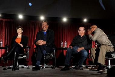 Maggis Siff, Jimmy Smits, Dayton Callie and Paris Barclay at An Evening with Sons of Anarchy.