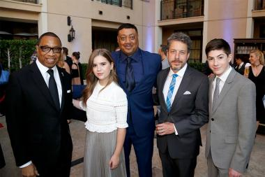 Television Academy Chairman & CEO Hayma Washington, Kyla Kenedy, Cedric Yarbrough, John Ross Bowie, and Mason Cook at the 2017 Television Academy Honors at the Montage Hotel on Thursday, June 8, 2017, in Beverly Hills, California.