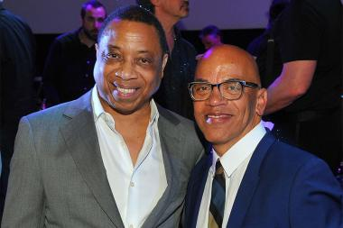 Television Academy Chairman and CEO Hayma Washington and Television Academy governor Rickey Minor at WORDS + MUSIC, presented Thursday, June 29, 2017 at the Television Academy's Wolf Theatre at the Saban Media Center in North Hollywood, California.