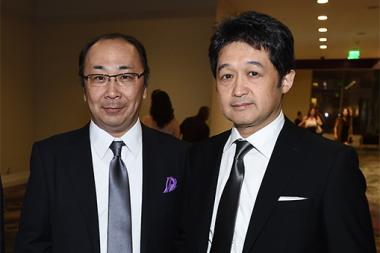 Hiroshi Kiriyama and Mikio Kita at the 69th Engineering Emmy Awards at the Loews Hollywood Hotel on Wednesday, October 25, 2017 in Hollywood, California.