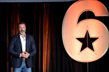 Joel Lambert speaks at the Got Your 6 Storytellers event, November 10, 2015, in Los Angeles, California.