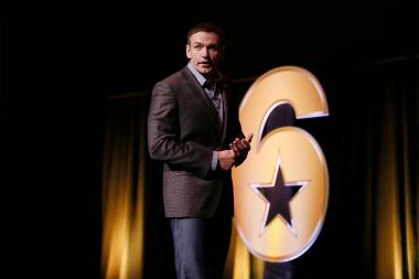 "Josh Mantz speaks at the Got Your Six ""Storytellers"" event at the Television Academy's Wolf Theatre at the Saban Media Center on Tuesday, November 1, 2016, in North Hollywood, California."