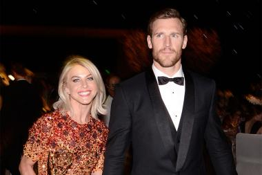 Julianna Hough and fiancé Brooks Laich at the 2015 Creative Arts Ball.